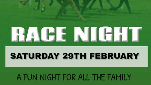 Race Night Date Announced