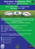 Aberdeen Wanderers RFC Youth Summer Camp