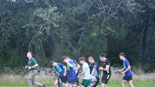 Granite City U18s PT session run by the Royal Marines and with Dyce RFC