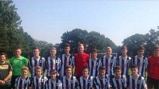 U18s squad on tour in chigwel