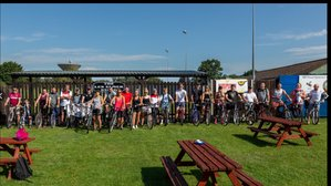 Everyone Back from the Bike ride