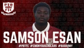 Esan Wins Supporters Club Player of the Month for September