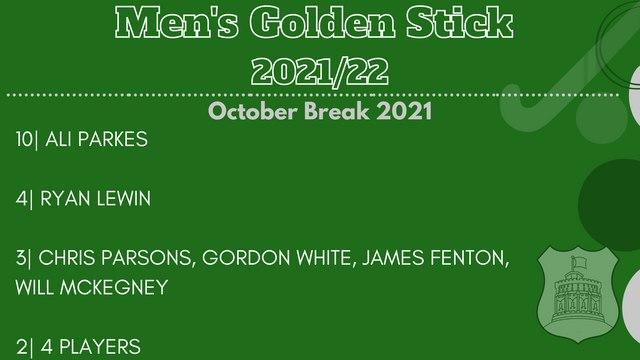 Men's Golden Stick - October Break