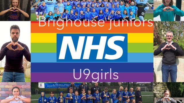 U9 girls saying thank you to our NHS workers