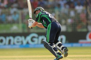Andrew Poynter flicks the ball off his toes, Ireland v Netherlands, World T20, First Round Group B, Sylhet, March 21, 2014 © ICC