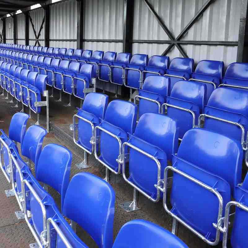 NEW SEATING IN TOWN END STAND