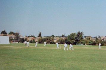 1991 les wood batting with bruce macdonald - 100 partnership