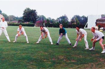 1990 1s fielding practice