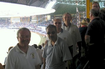 2006 Mumbai Test Tourist Les Wood, Anoop Manro, Philip Forman & Peter Browne