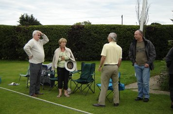 2008 Richard & Lorraine Barker, Bill Kincaid & Micky Serpant discussing the wimbledon result