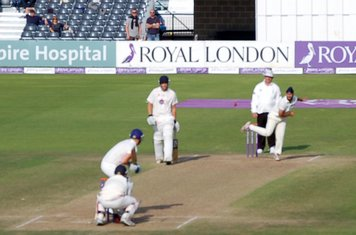2014p Amar Virdi in action-an excellent spell of bowling