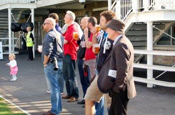 2014l sunbury supporters L-R scott anstiss,colin bentall,andy cook,richard & martin gould