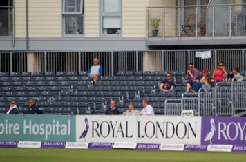2014e supporters at the N end including Jack Prosser and Chris Page in front row