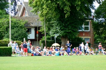 2014 T20 finals day at Banstead CC -  SCC supporters