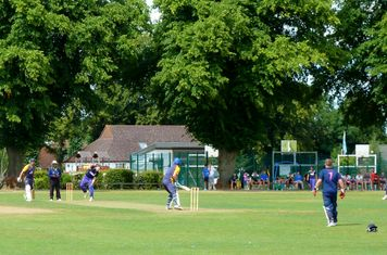 2014 T20 finals day at Banstead CC - semi final Sunbury vs Valley End