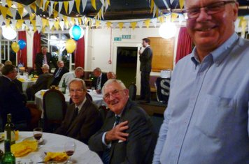 2013 75th Anniversary Players Supper - R-L Philip Forman,  Arthur Hughes, Peter Taylor