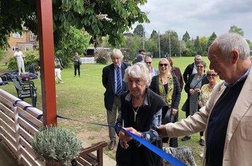 2019 Daphne Sharman opening the Frank Sharman pavilion