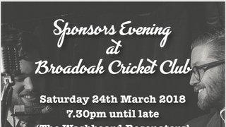 Sponsors evening at Broad Oak