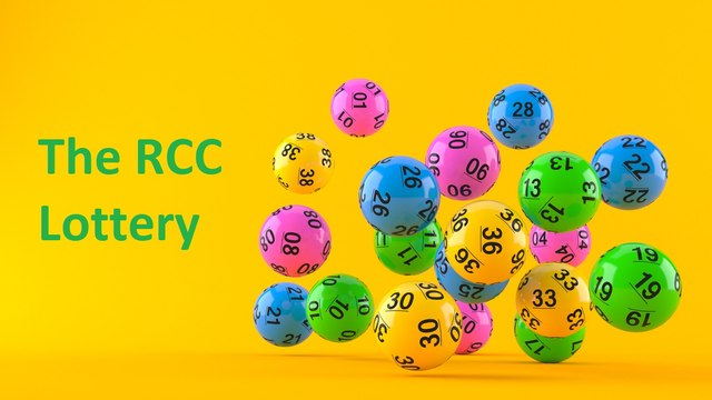 January 2021 RCC Lottery Draw - £370 total pay-out to members this month