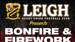 Leigh RUFC Bonfire 2017