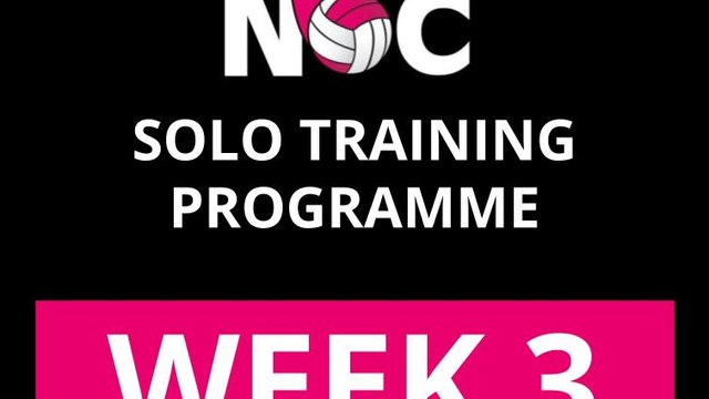 WEEK 3 - Solo Training Programme