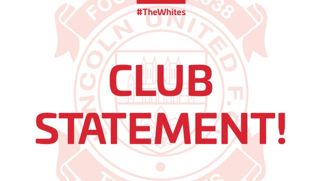 CLUB STATEMENT - MEN'S FIRST TEAM OUT THE FA CUP