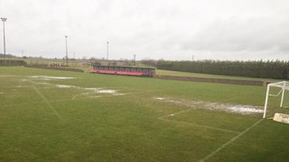 Waterlogged pitch March 16th 2013