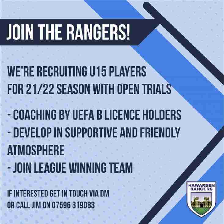 Hawarden Rangers looking for players
