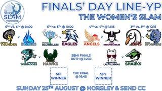 Teams for weekend 24 & 25 August