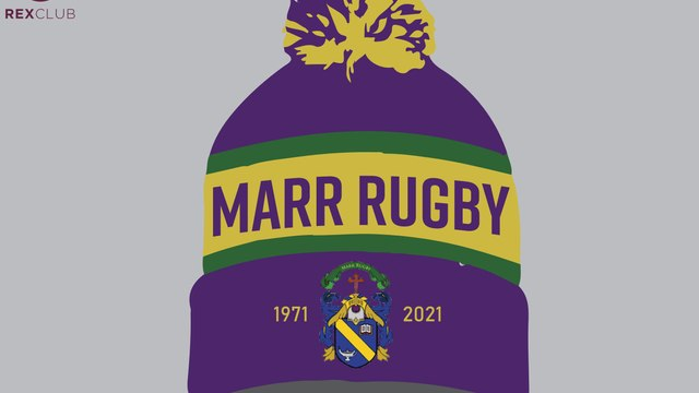 MARR RUGBY 50th Anniversary Bobble Hat - Pre-order
