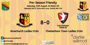 Excellent win for the Ladies U16s against Cheltenham U16s