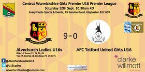 League season starts with an excellent 9-0 win against AFC Telford