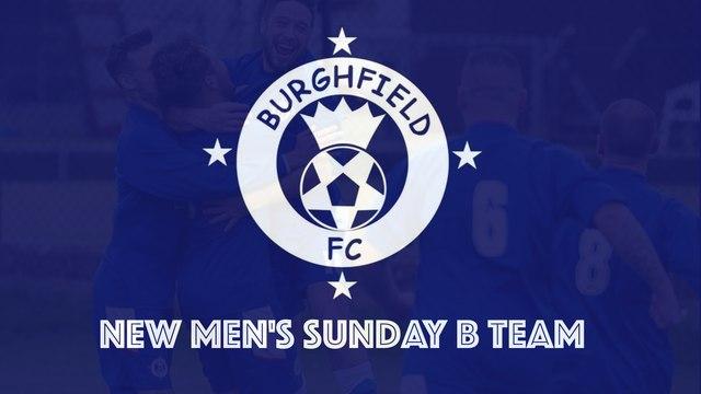 New Men's Sunday B Team