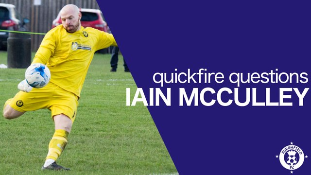 Quickfire Questions - Iain McCulley