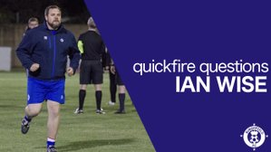 Quickfire Questions - Ian Wise