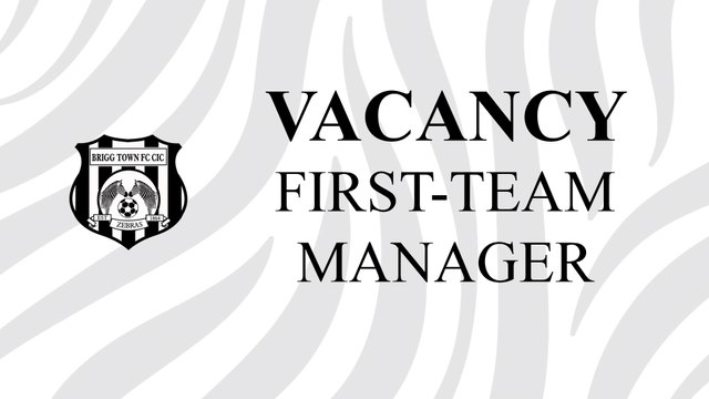 VACANCY: FIRST TEAM MANAGER