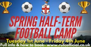 SPRING HALF-TERM FOOTBALL CAMP | Camp Confirmed for Early June!