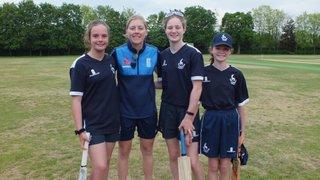 Bishop's Stortford Girls meet Heather Knight