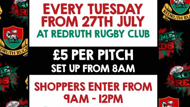 Car Boot Sales at Redruth RFC on Tuesdays