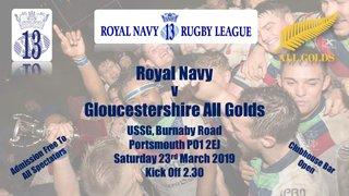 Royal Navy v Gloucestershire All Golds