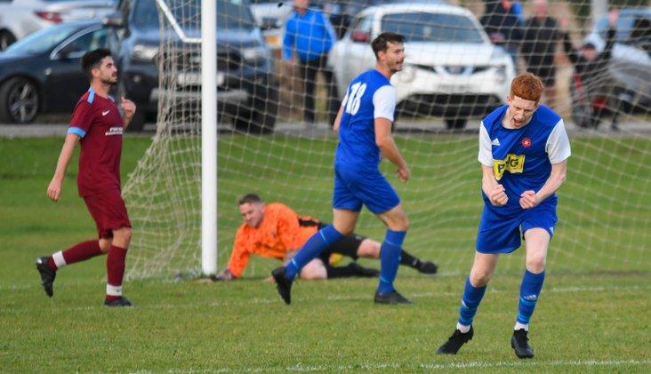 Ryan Moore grabbing his second goal of the season for Wyre Villa