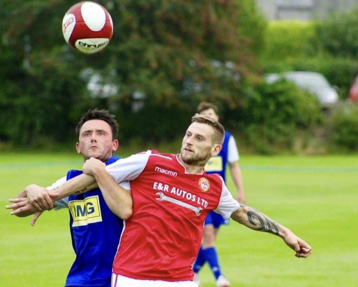 Ricky Ball was once again on the scoresheet for Milnthorpe