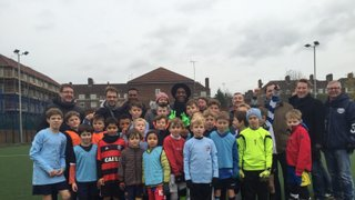 Kew with Leroy Fer before QPR Guard of Honour!