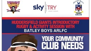 U10s Rugby League Training Session with the Huddersfield Giants