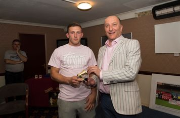 Each scoring 13 goals in all competitions, Kurtis Cumberbatch and George Moore shared the club's 'golden boot', pipping Ryan Moss who was the top league scorer (with 12).  Dennis Willis made the presentations