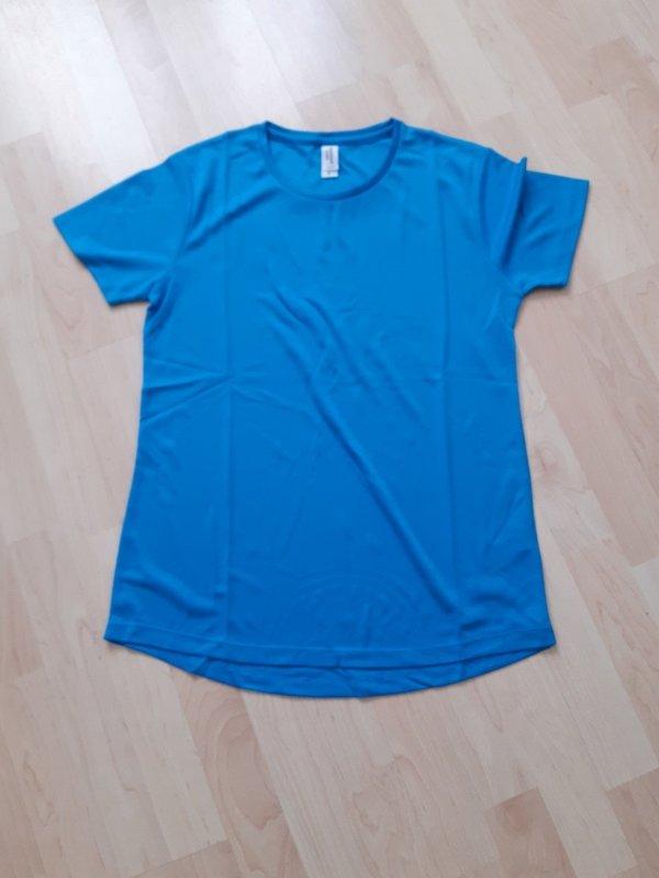Blue girls hardball playing shirt