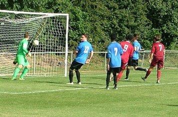 Mfula (9) turns away after scoring