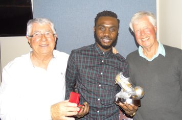Top Goalscorer, Warren Mfula presented by Directors Grahame Jarrold and Mike McCue