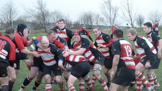 Old Brods 2nd v Cleck Kestals. Jan 8 2010.