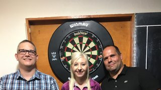 Fallon Sherrock darts exhibition